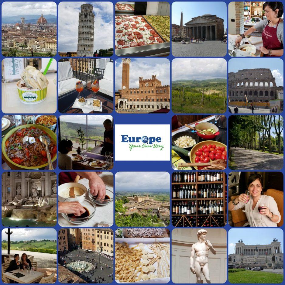 Florence, Siena, Pisa, San Gimignano, Lucca, Rome